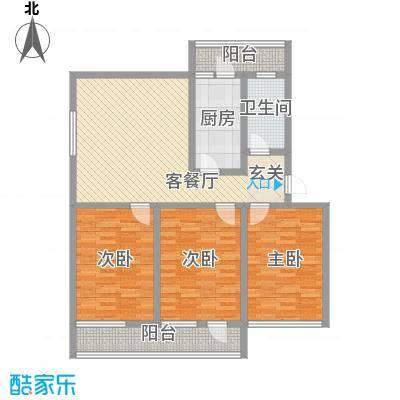 普利永庆街1号138.60㎡c户型3室1厅1卫