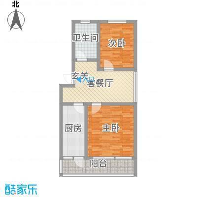 普利永庆街1号84.30㎡b户型2室1厅1卫