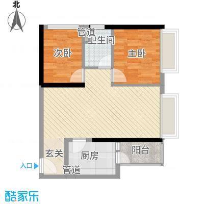 汇峰国际公寓85.46㎡A座09单元户型2厅