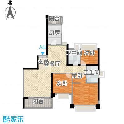汇峰国际公寓147.00㎡B座户型2厅
