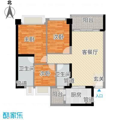 汇峰国际公寓113.35㎡E座03单元户型2厅