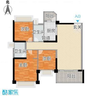 汇峰国际公寓136.63㎡E座02单元户型2厅