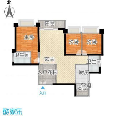 汇峰国际公寓131.87㎡D座03单元户型2厅
