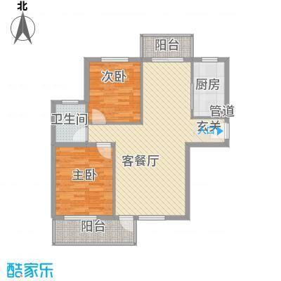 水色时光花园D1户型2室2厅1卫1厨