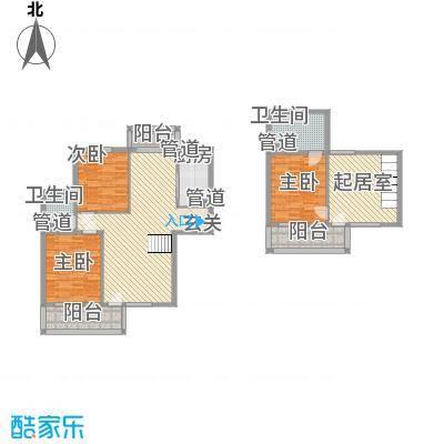 水色时光花园D3户型3室2厅2卫1厨