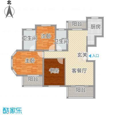 水色时光花园145.00㎡A2户型3室2厅2卫1厨