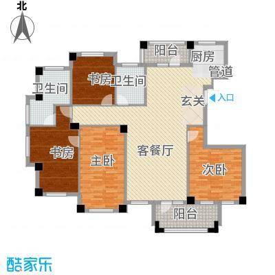 枫华富地173.00㎡G9-G10户型4室2厅2卫1厨