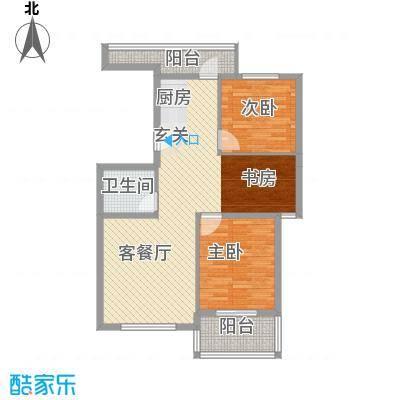 水色时光花园111.00㎡C2户型3室2厅2卫1厨