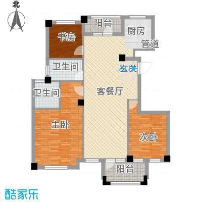 枫华富地135.00㎡G3-G4户型3室2厅2卫1厨