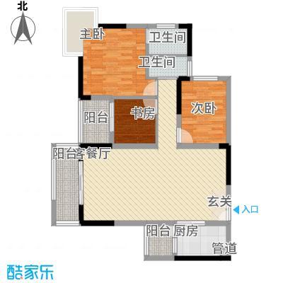 龙井湾住宅小区2户型3室