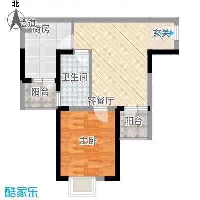 中庚香海上峰户型1室