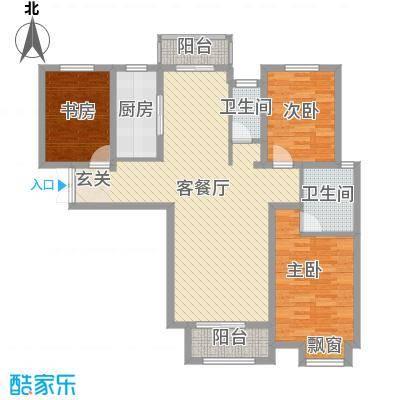 徐州云龙万达广场127.00㎡9#A2户型3室2厅2卫1厨