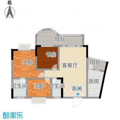 邦兴佳苑116.00㎡户型3室