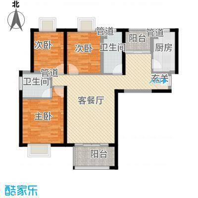 陆丰里户型3室2厅2卫1厨