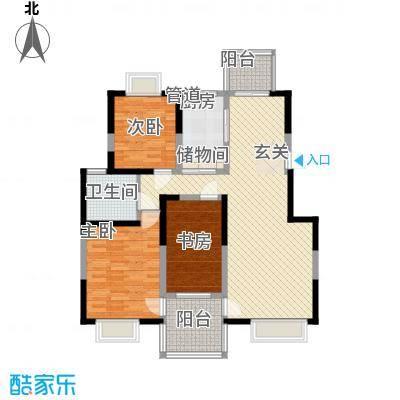 汇豪名邸113.00㎡户型3室