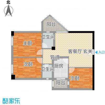 国商大厦户型3室