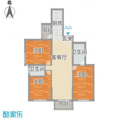 东方剑桥147.75㎡上海户型