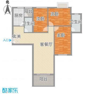 东方剑桥148.22㎡上海户型
