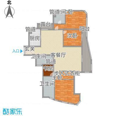 富鸿温泉公寓户型3室2厅2卫1厨