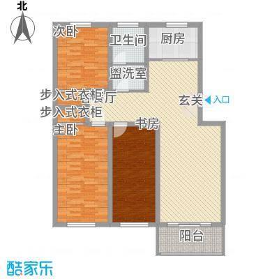山水龙庭11.15㎡B户型3室2厅1卫1厨