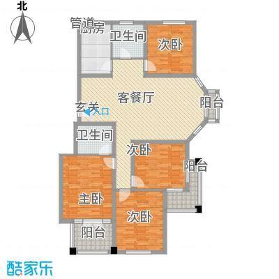 益明金桂苑146.20㎡D户型4室2厅2卫1厨