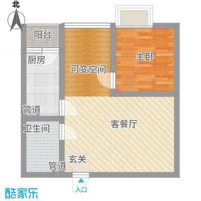 天奇渝中世纪5.76㎡B1户型2室2厅1卫1厨