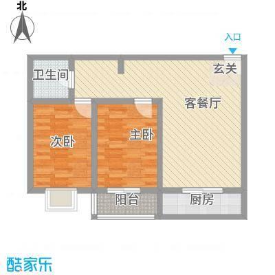 泰和怡苑83.00㎡3户型2室1厅1卫1厨