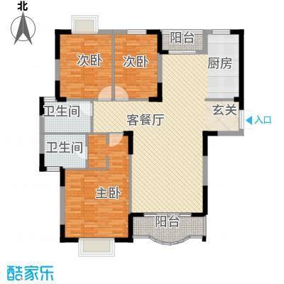 恒润花园133.87㎡户型3室