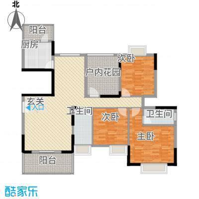 丰泽园145.70㎡标准层D3户型3室2厅2卫1厨