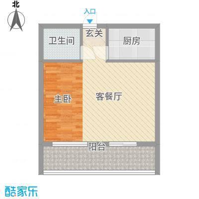 冠宇花园65.00㎡户型1室1厅