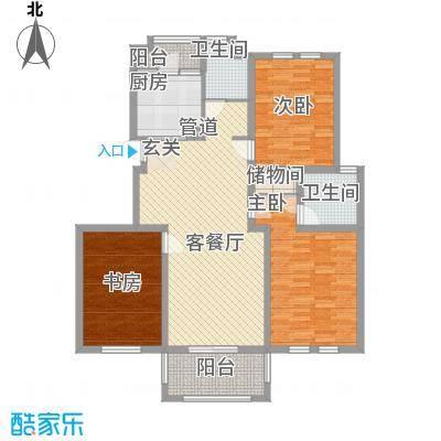 金域名苑4.00㎡户型2室