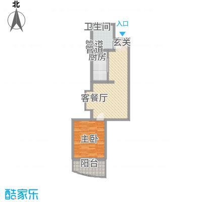 华旗地和苑5.80㎡5989户型1室1厅1卫1厨