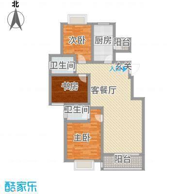 文化七村168.00㎡户型3室