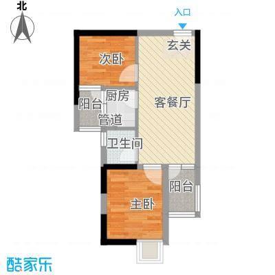 东方新天地大厦62.63㎡03栋户型2室2厅