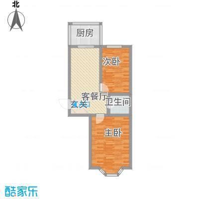 亿兴润景户型2室1厅1卫1厨