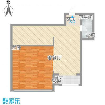 金兴星海国际2.00㎡A1户型2室2厅1卫1厨