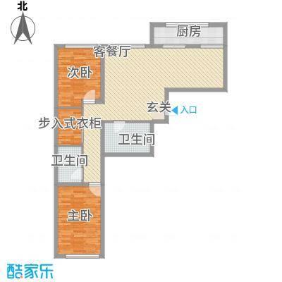 金兴星海国际A4户型2室2厅2卫1厨