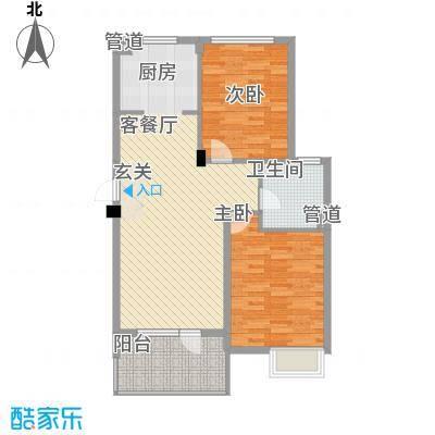 明发宿舍楼2-2-1-1-4户型2室2厅1卫1厨
