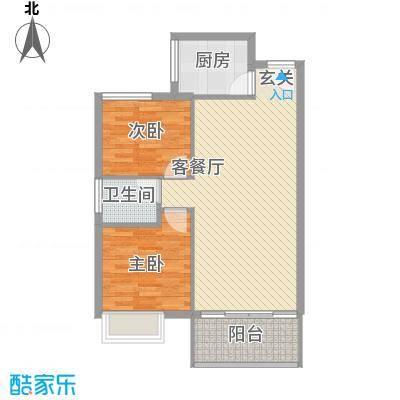 星河绿洲83.31㎡C1栋0户型2室2厅1卫1厨