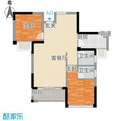 明发宿舍楼2-2-2-1-1户型2室2厅2卫1厨