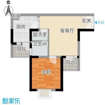 易和紫园户型1室
