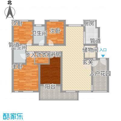 盛世清华135.00㎡户型3室