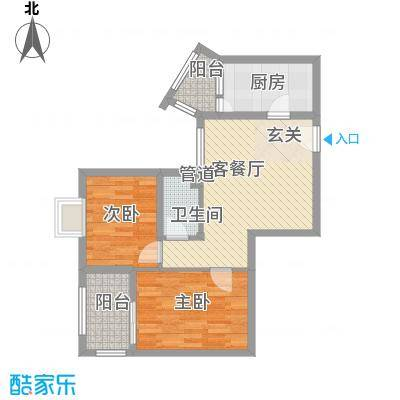 云天锦绣前程65.00㎡户型2室