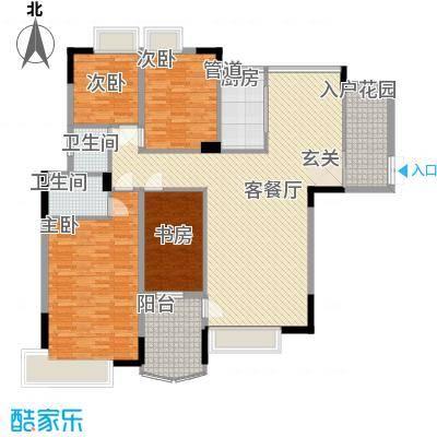东润华庭户型4室2厅2卫1厨