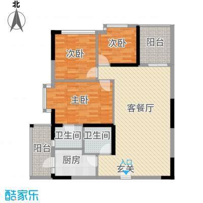 云天华庭11.46㎡户型3室2厅2卫1厨