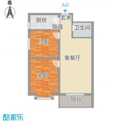 龙昌滨河源88.00㎡2B户型2室2厅1卫1厨