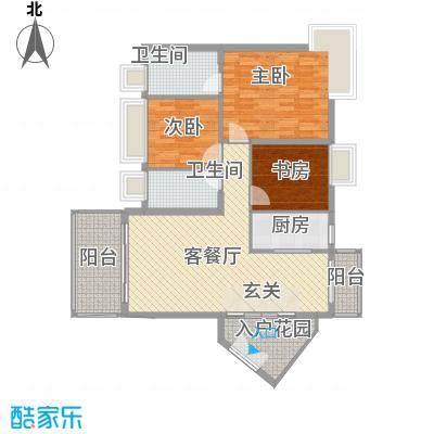 中天彩虹城121.70㎡B6户型3室2厅2卫1厨