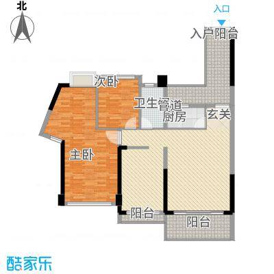 阳光海滨花园134.00㎡户型3室