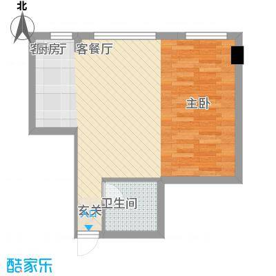 丽晶书香院58.00㎡户型2室