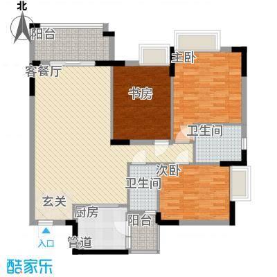 华林东盛花园115.00㎡户型3室